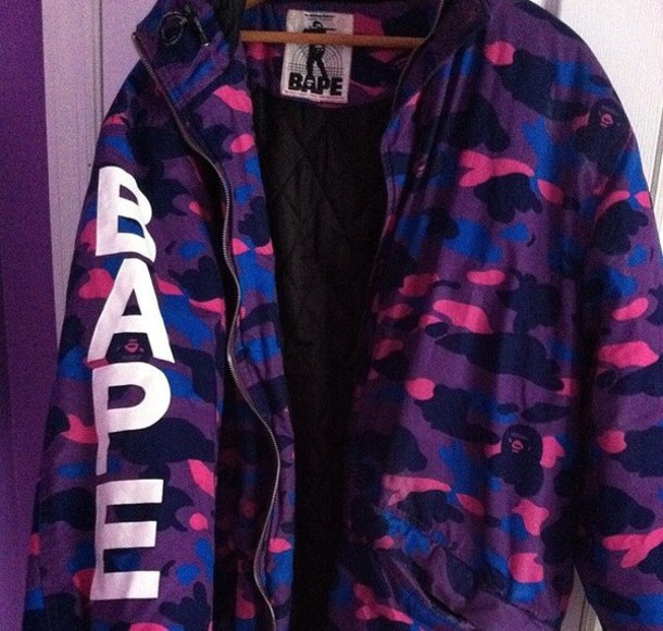 Coat bape bathing ape purple - Wheretoget