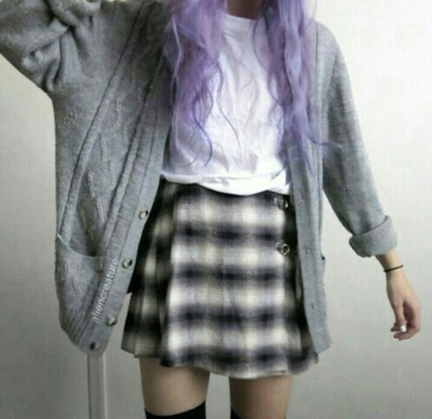 cardigan skirt blouse coat