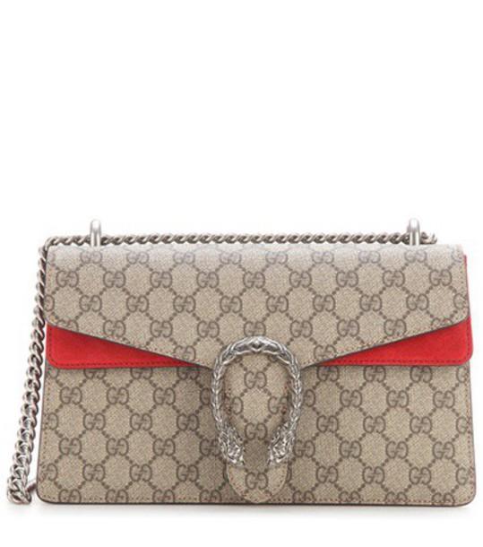 bag shoulder bag suede red