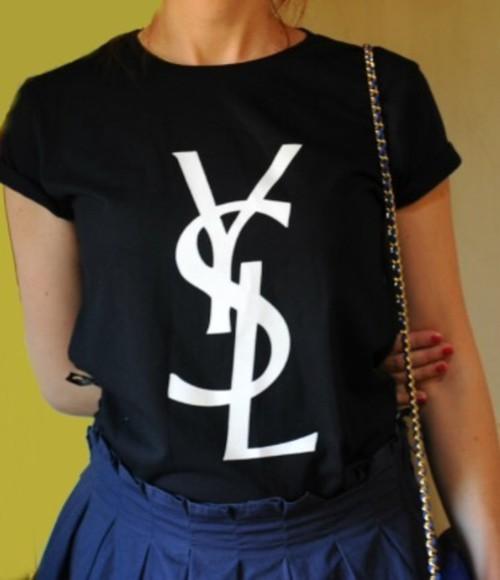ysl ysl shirt ysl tshirt shirt t-shirt vogue