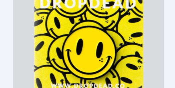 hair accessory pin enamel pin happy face happy smiley yellow enamel