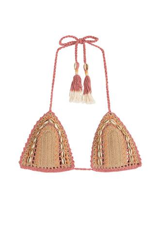 bikini bikini top knit crochet multicolor swimwear