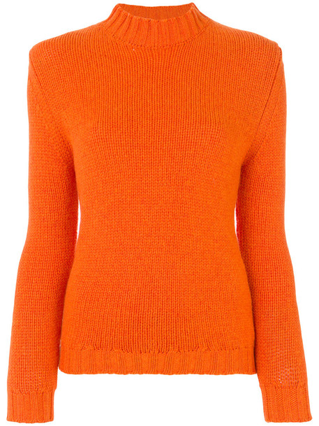 Bear Hug jumper women yellow orange sweater