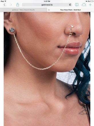 jewels nose ring nose chain jewelry