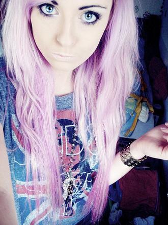 top scene indie hipster soft grunge pastel goth kawaii kawaii grunge emo pink pink hair union jack pastel hair