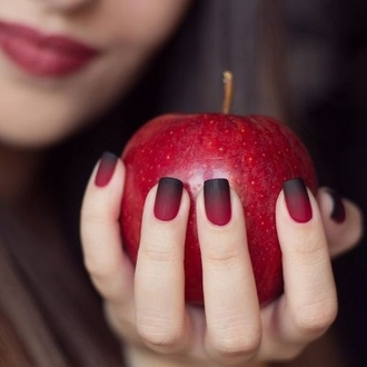 nail polish red black fall outfits snow white ombre halloween makeup