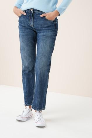 Buy Emma Willis Dark Blue Slim Boyfriend Ankle Jeans from the Next UK online shop