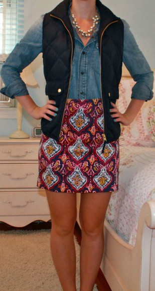colorful short skirt preppy
