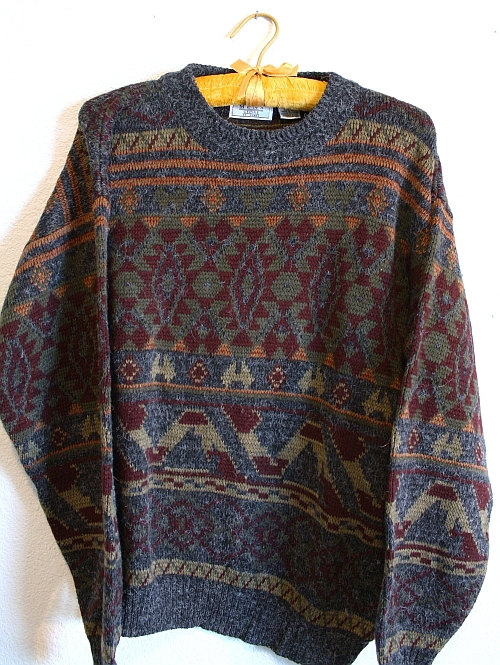 Geometric sweater from the 80's Cosby style by TheLadyUpstairs