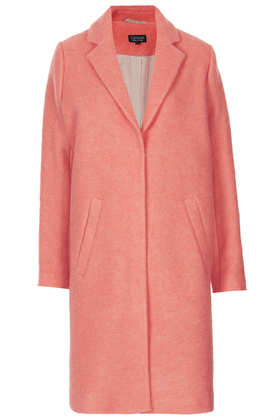 Wool Boyfriend Coat - Topshop