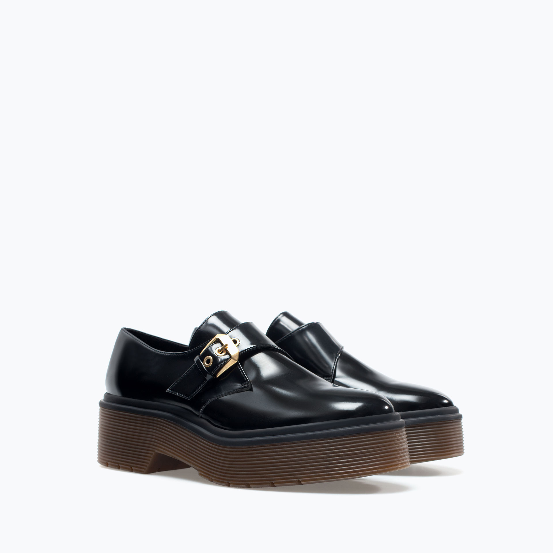 Monk shoe with platform sole