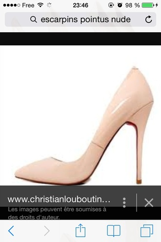 shoes nude shoes high heelss