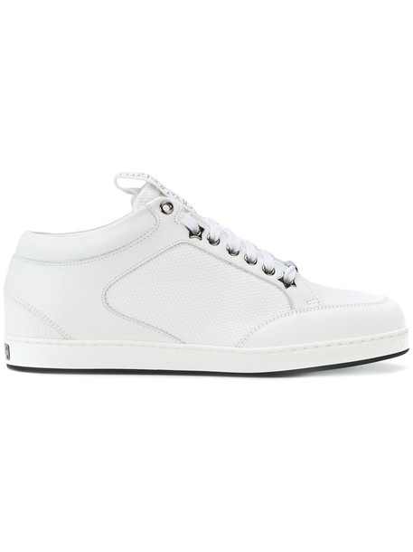 Jimmy Choo women miami sneakers leather white cotton shoes
