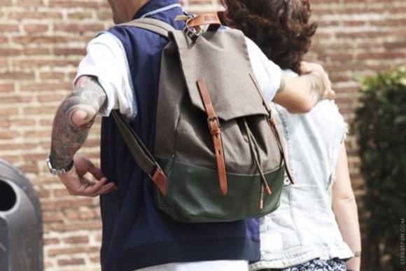 bag menswear backpack khaki