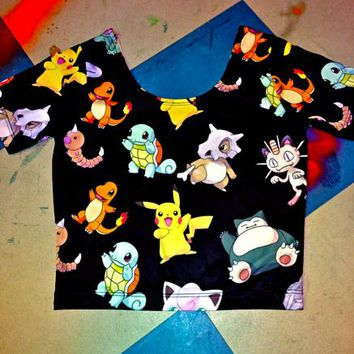 SWEET LORD O'MIGHTY! Pokemon Crop Top on Wanelo