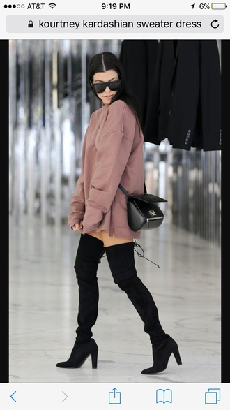 dress kourtney kardashian sweater dress oversized sweater