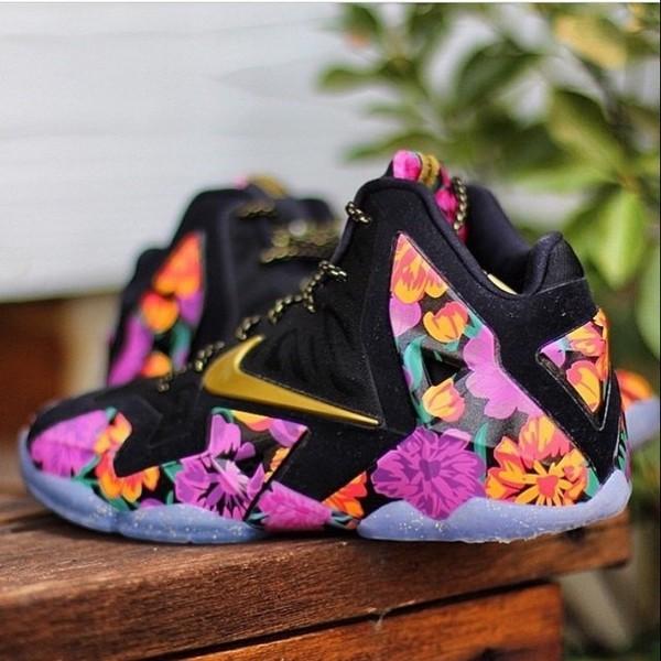 Shoes Lebrons Lebronshoes Lebron11s Floral Florashoes