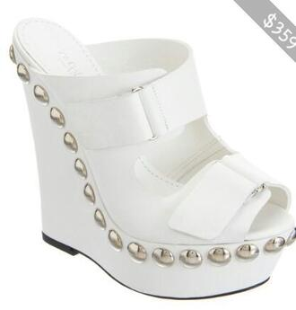 shoes studded shoes wedges