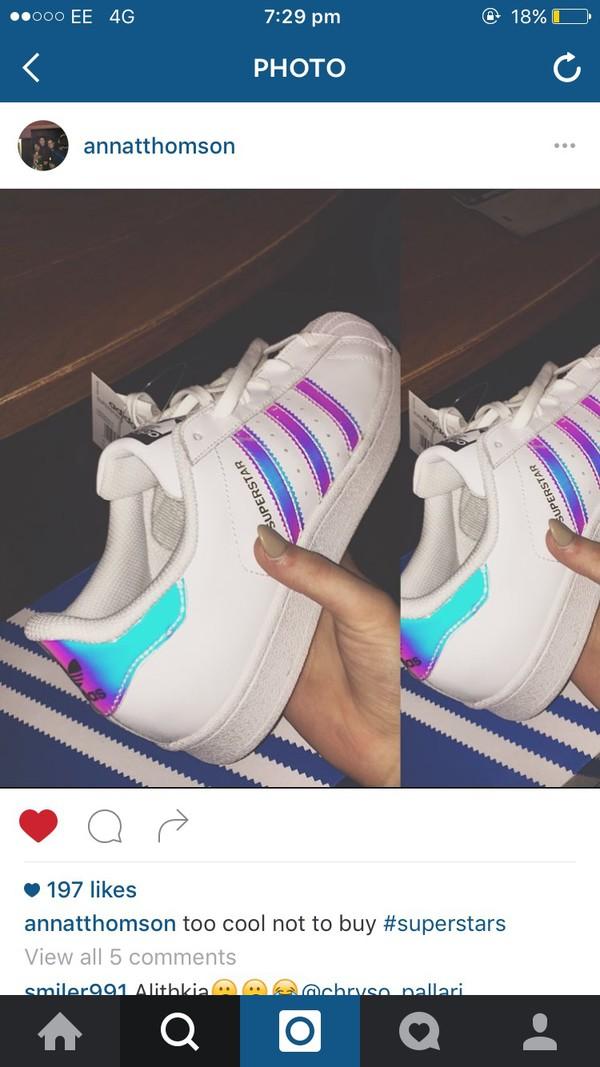 adidas superstar gs white metallic silver womens