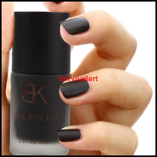 12ml Black Matt Dull Nail Art Polish Enamel Varnish NEW | eBay