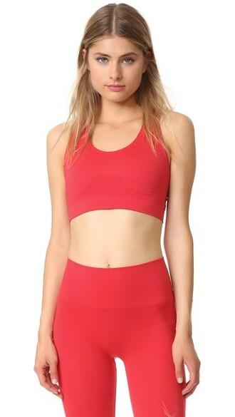 bra sports bra knit red underwear