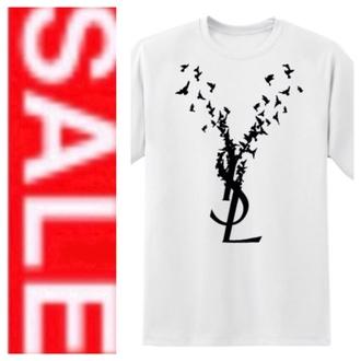 t-shirt ysl tshirt miley cyrus tshit women tshirts oversized t-shirt mens t-shirt