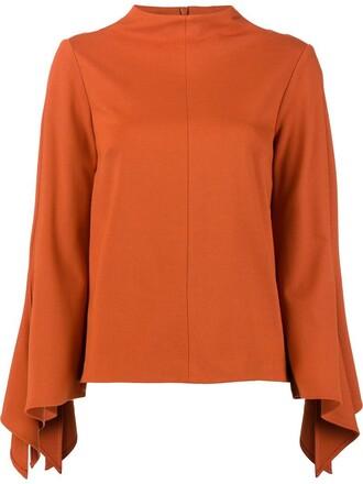blouse women spandex yellow orange top