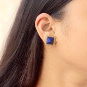jewels,earrings,studs,jewelry,fashion,lapis,gemstone