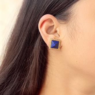 jewels earrings studs jewelry fashion lapis gemstone