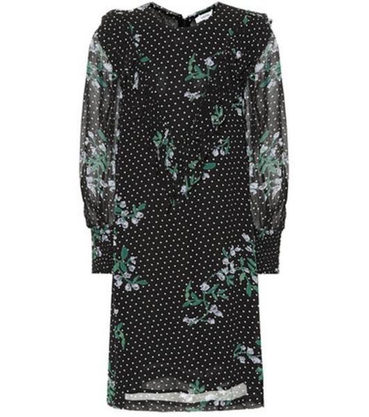 Ganni Rometty floral minidress in black