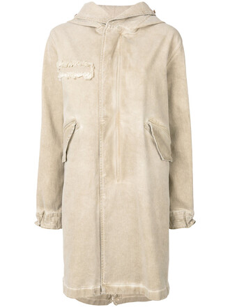 coat denim women spandex nude cotton