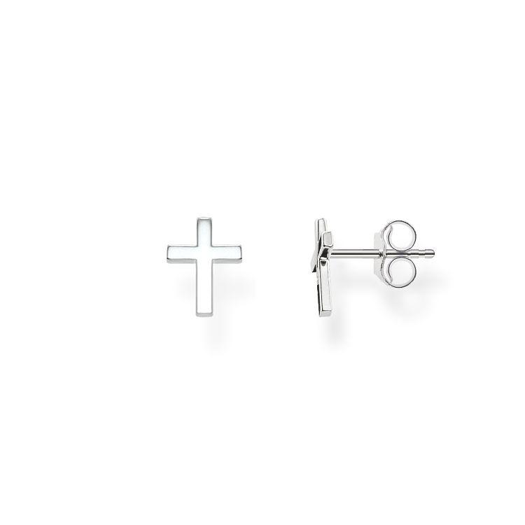 thomas sabo glam soul sterling silver boucles d 39 oreille croix. Black Bedroom Furniture Sets. Home Design Ideas