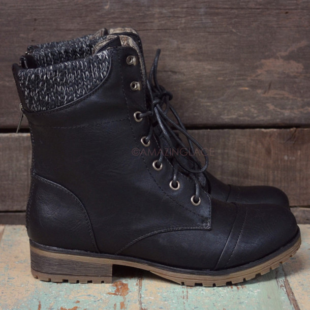 shoes, lace up boots, black boots, fall