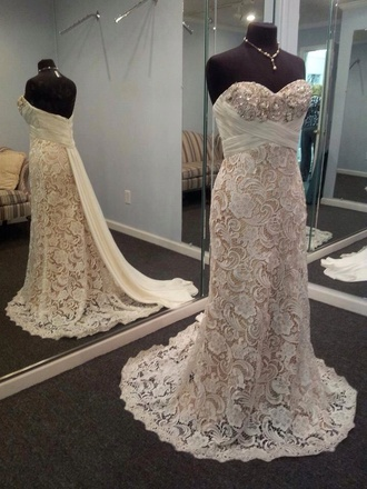 dress lace dress lace lace wedding dresses ivory dress beaded pretty prom dress long prom dress lace prom dress