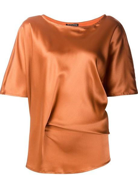 ANN DEMEULEMEESTER blouse brown top