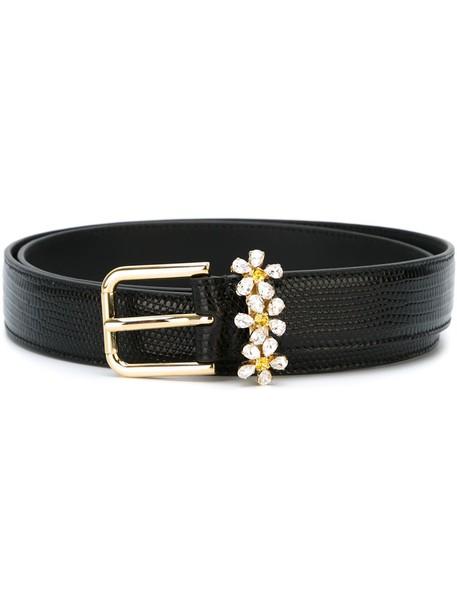 daisy belt black