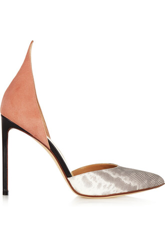 snake pumps suede print pink snake print shoes