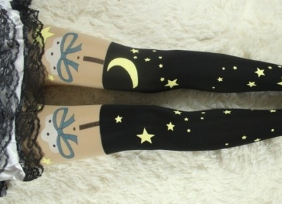 Stars moon night pastel goth tights