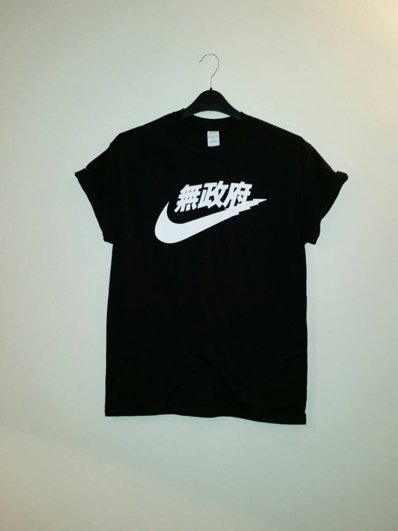 unisex nike japan t shirt sz medium festival fashion ibiza