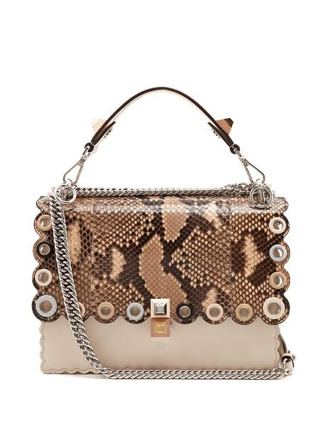 Fendi bag shoulder bag leather python