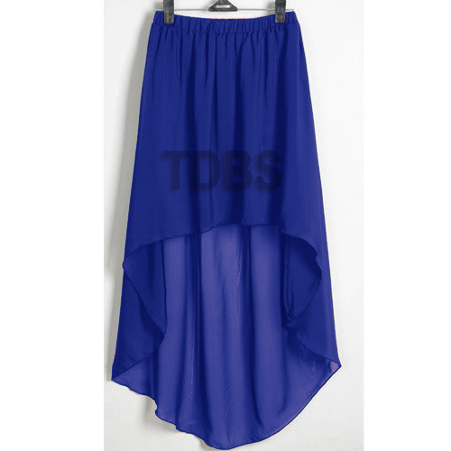 R Blue Women Lady Chiffon Hot Sexy Asym Skirts Waist Maxi High Low Hem s 3XL | eBay