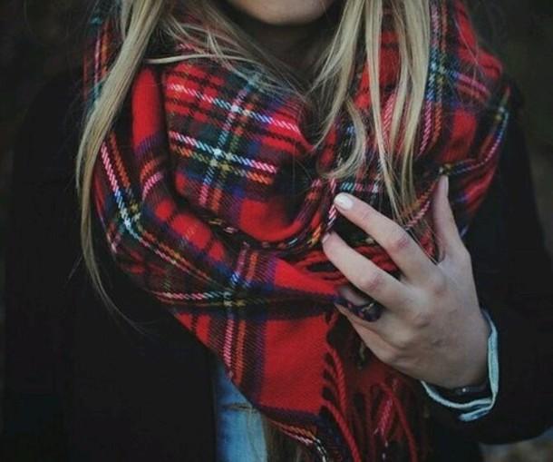 scarf tartan scarf winter scarf