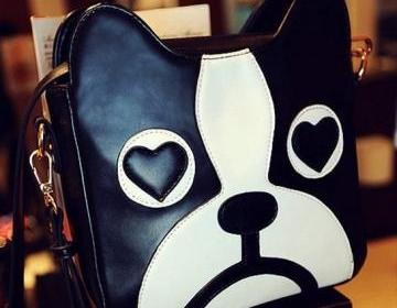 Cute Black & White Dog Cross Body Shoulder Bag on Luulla
