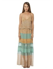 Gypsy05.Com - Official Website :: Shop Women Maxi Dresses - Aphrodite Printed Chiffon Panel Maxi Dress