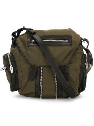 mini backpack green bag