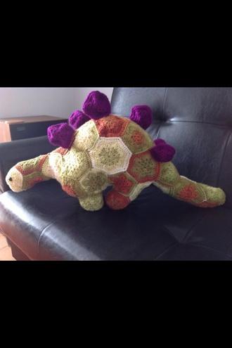 jumpsuit hand made crochet dinosaur