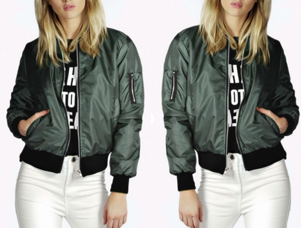 Army Green Bomber Jacket – Dream Closet Couture