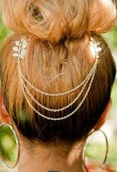 hair accessory,hair chain,gold hair chain,head jewels