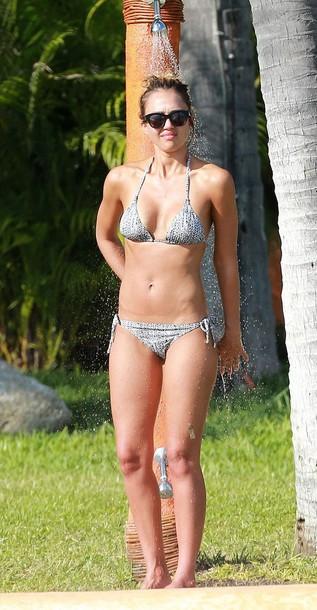 swimwear jessica alba summer outfits bikini bikini bottoms bikini top