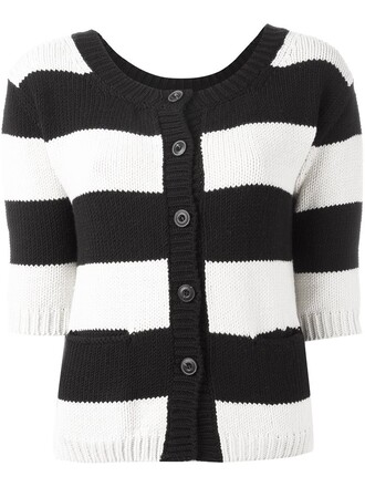 cardigan women black wool sweater